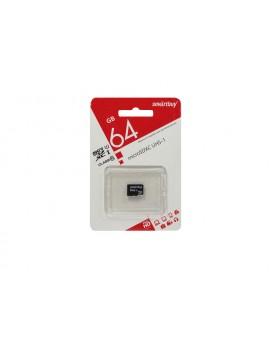 Карта памяти (Micro SD) 64 GB SmartBuy (с адаптером)