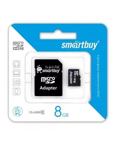 Micro SD Карта Smart Buy Class 10 8gb